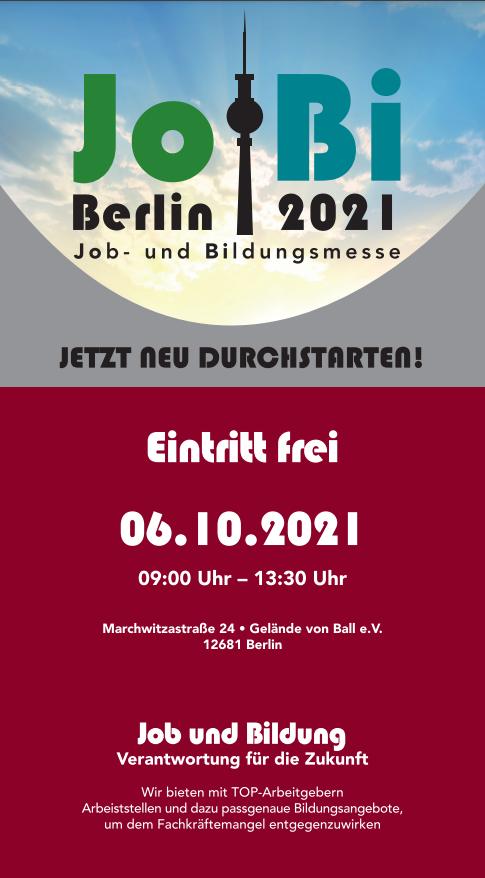 Jobmesse Berlin 06.10.2021
