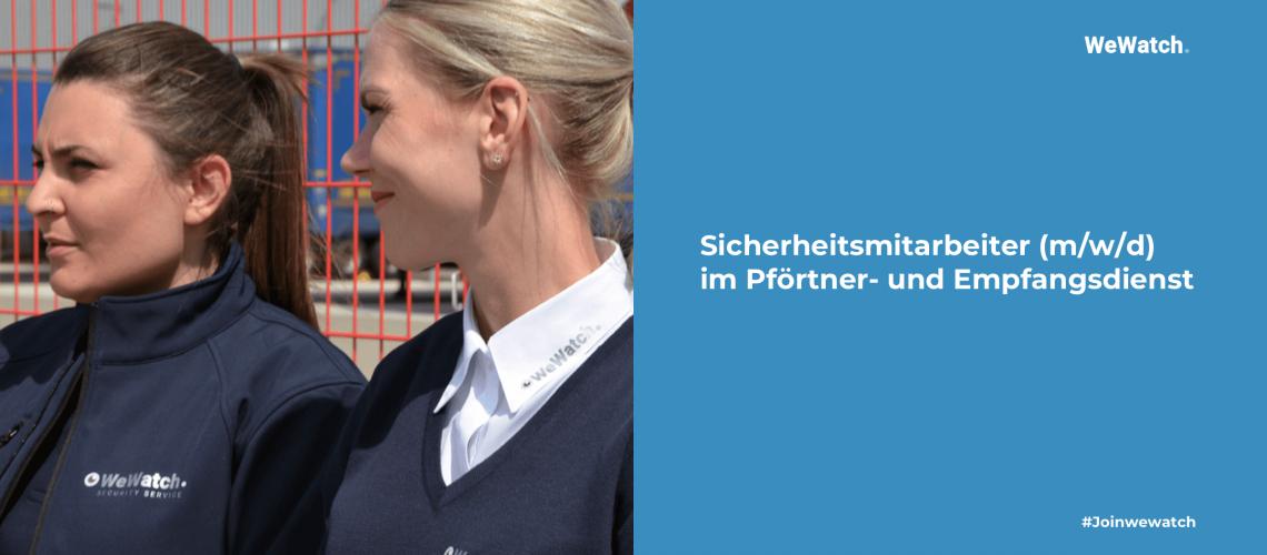 Sicherheitsmitarbeiter (m-w-d) im Pförtner- und Empfangsdienst